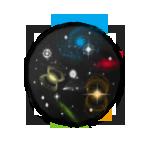 Galaxy elemental tiger egg by Fourdd