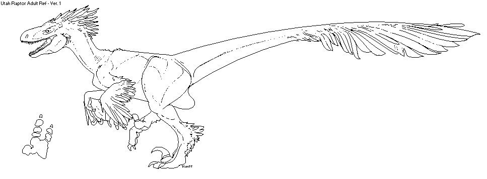 dinosaurus utah raptor coloring pages - photo#8