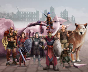 Pathfinder party by SargeCrys