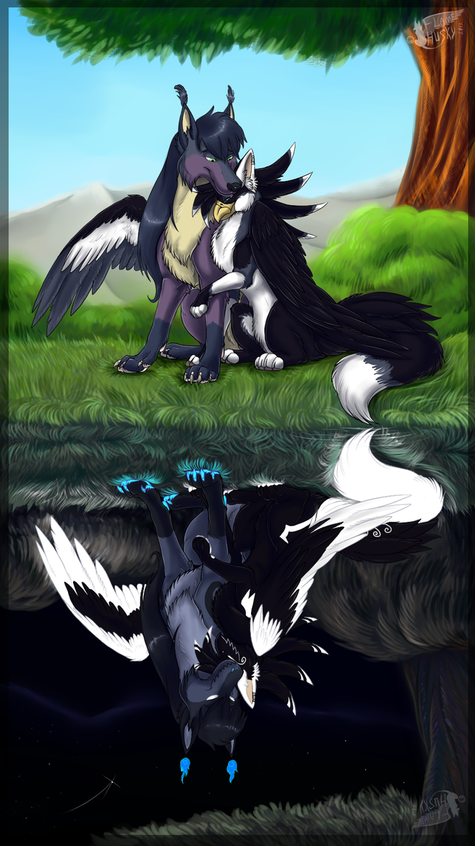 Two worlds by Husky-Foxgryph