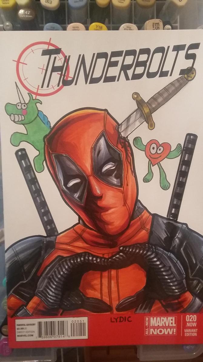 deadpool sketch cover by stevelydic