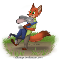 Nick and Judy Hug by Fecu
