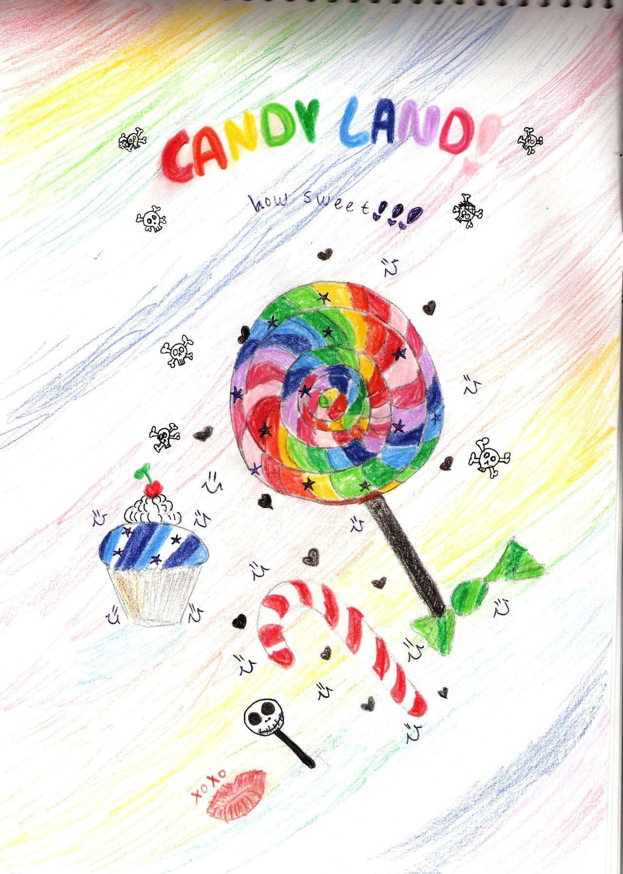 How to draw candy land