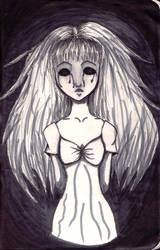 Ghost in the dark corridor.