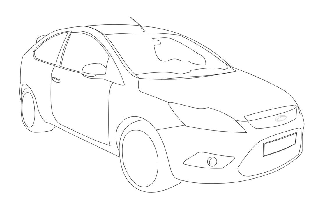 ford focus  please color this by bou87 on deviantart