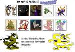 My top 10 favorite Dragons meme