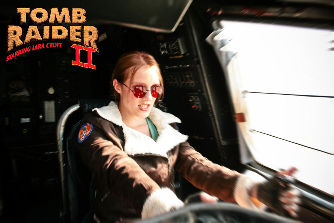Cosplay Lara Croft - Tomb Raider II - Aviator by MissCroftCosplay