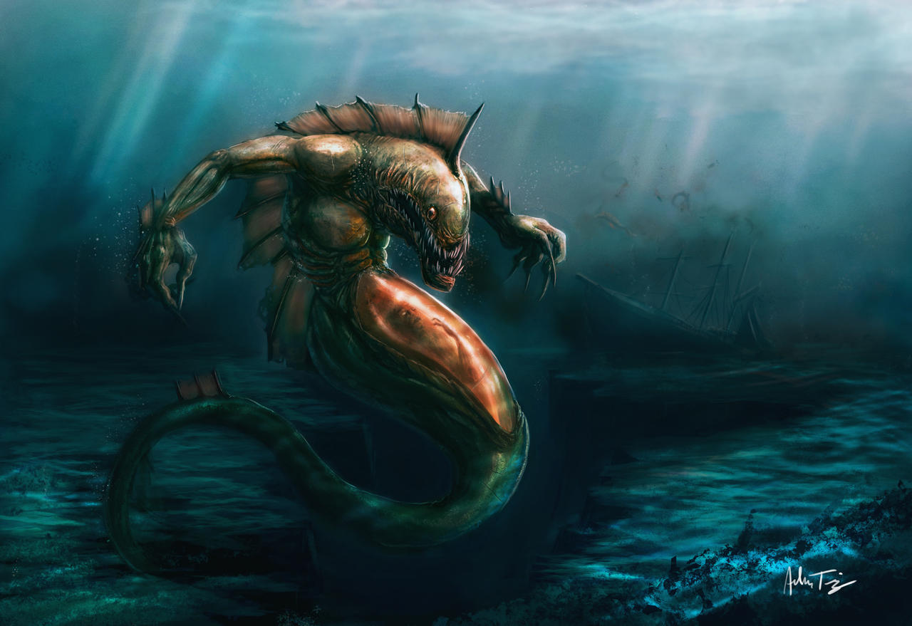 Gulper Merman Concept by RyomaNinja