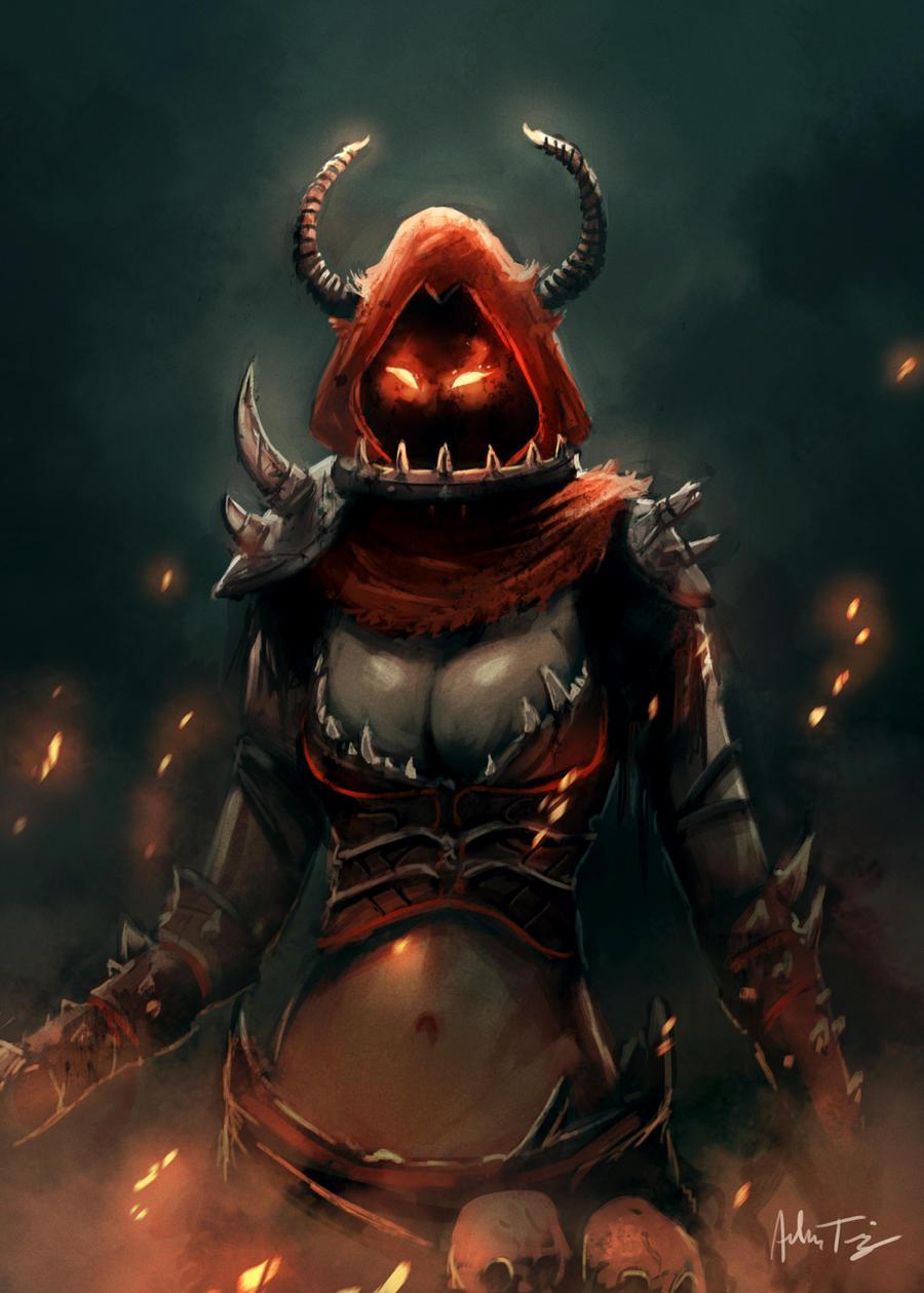 Demon Girl Speed Painting by RyomaNinja