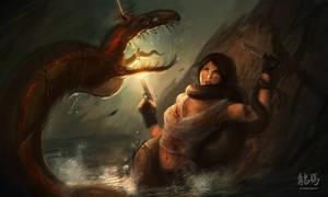 Gulper Fight 2 by ARTazi