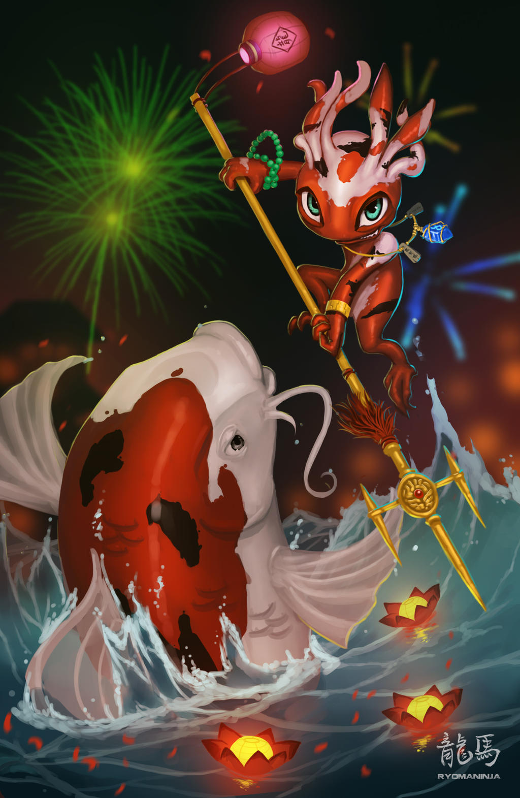 Art of Revelry Contest Entry: Koi Fizz by RyomaNinja