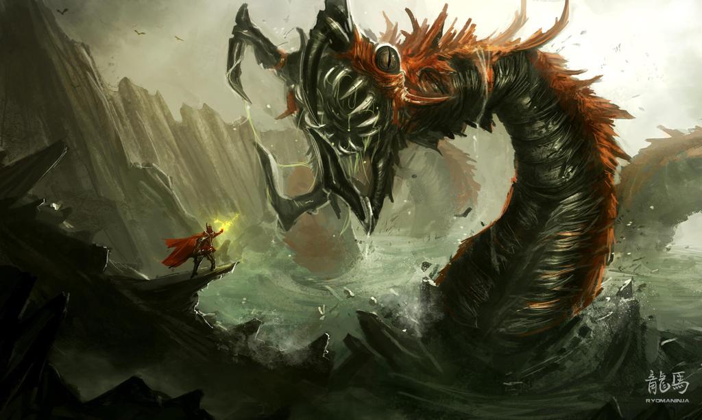 Sea Monster by RyoTazi