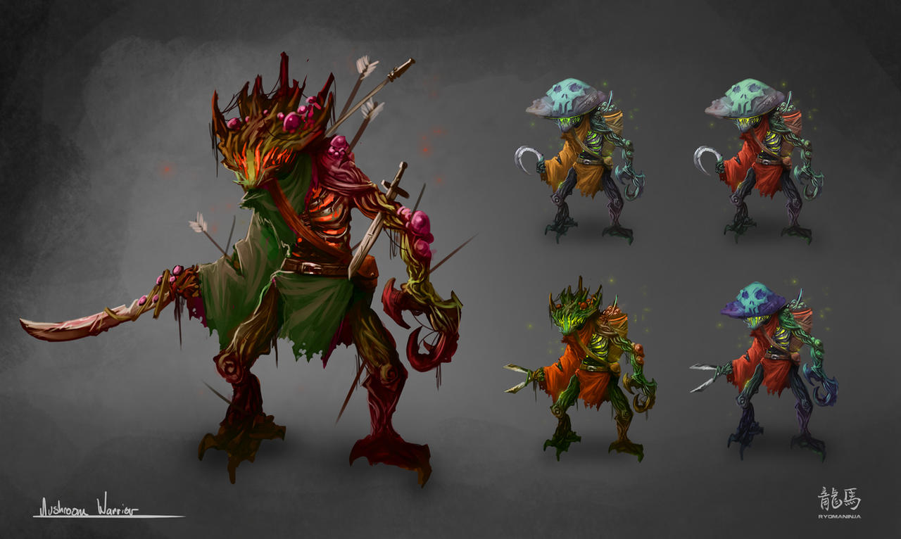 Mushroom Warrior by RyomaNinja