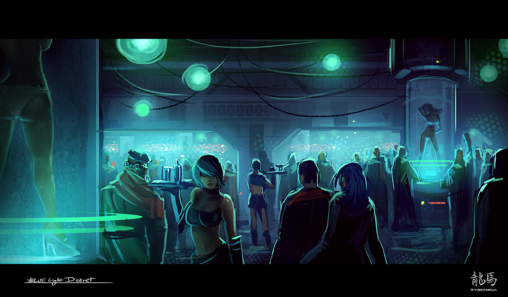 Blue Light District by RyomaNinja