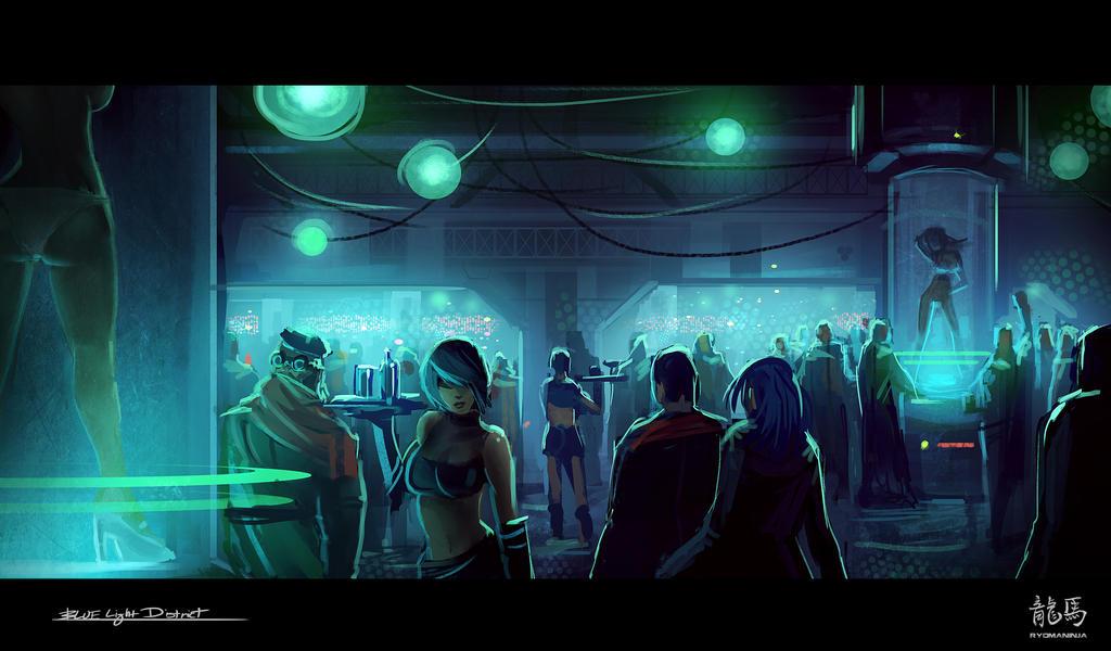 Blue Light District by RyomaNinja