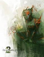 Guild Wars 2   Sylvari Fanart by ARTazi