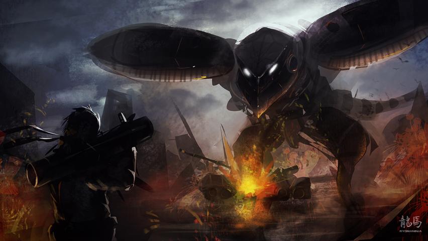 Metal Gear Conflict Speedpaint by RyomaNinja