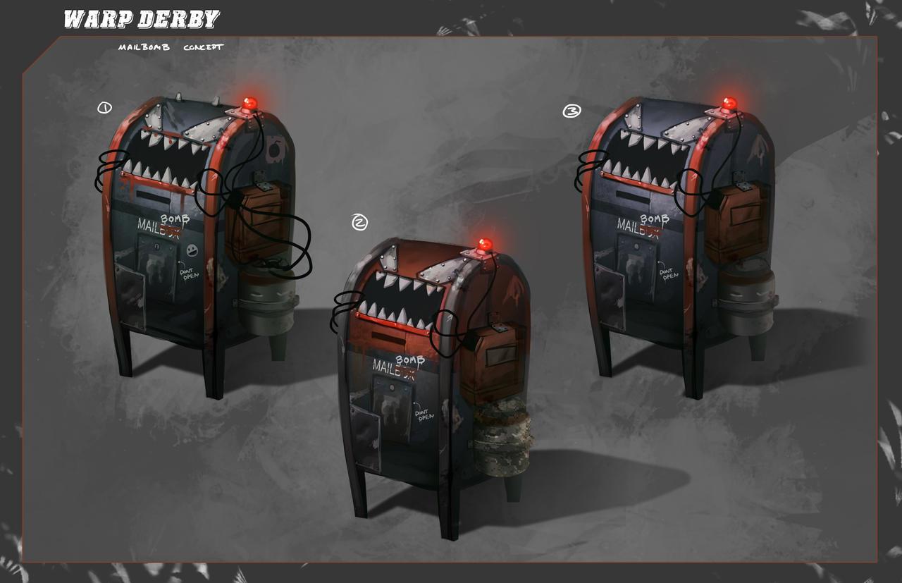 Warp Derby | Mailbomb Concept by RyomaNinja