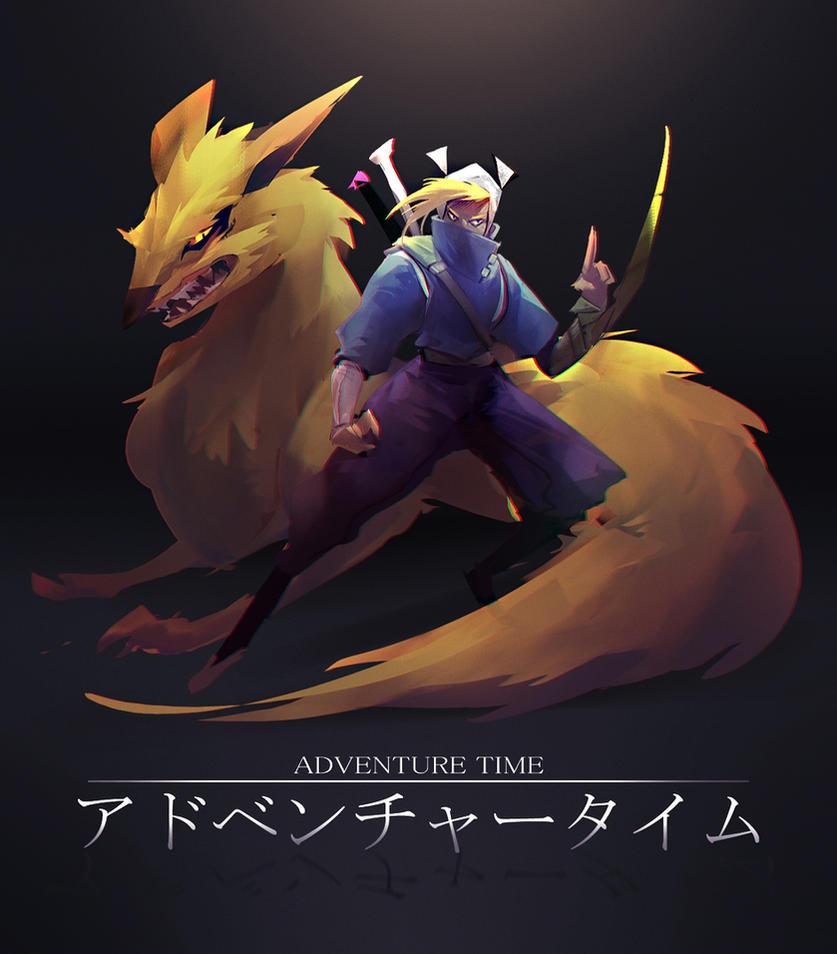 Adventure Time Ninja Style by RyomaNinja