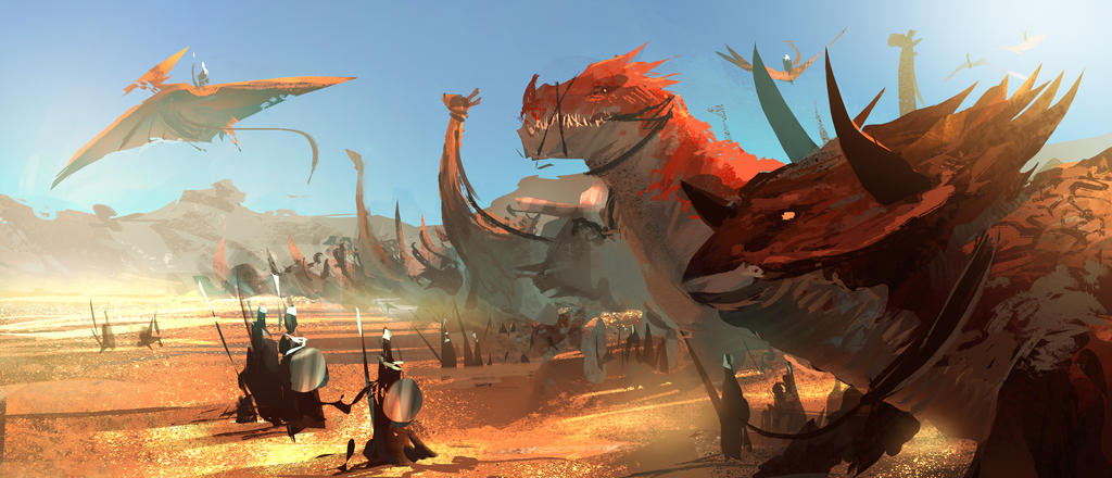 Dinosaur Army by RyomaNinja