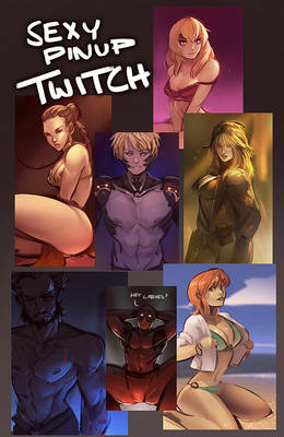 Twitch   Pinup Art Request Stream
