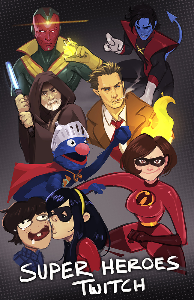 Twitch | Super Heroes Art Request Stream by RyoTazi