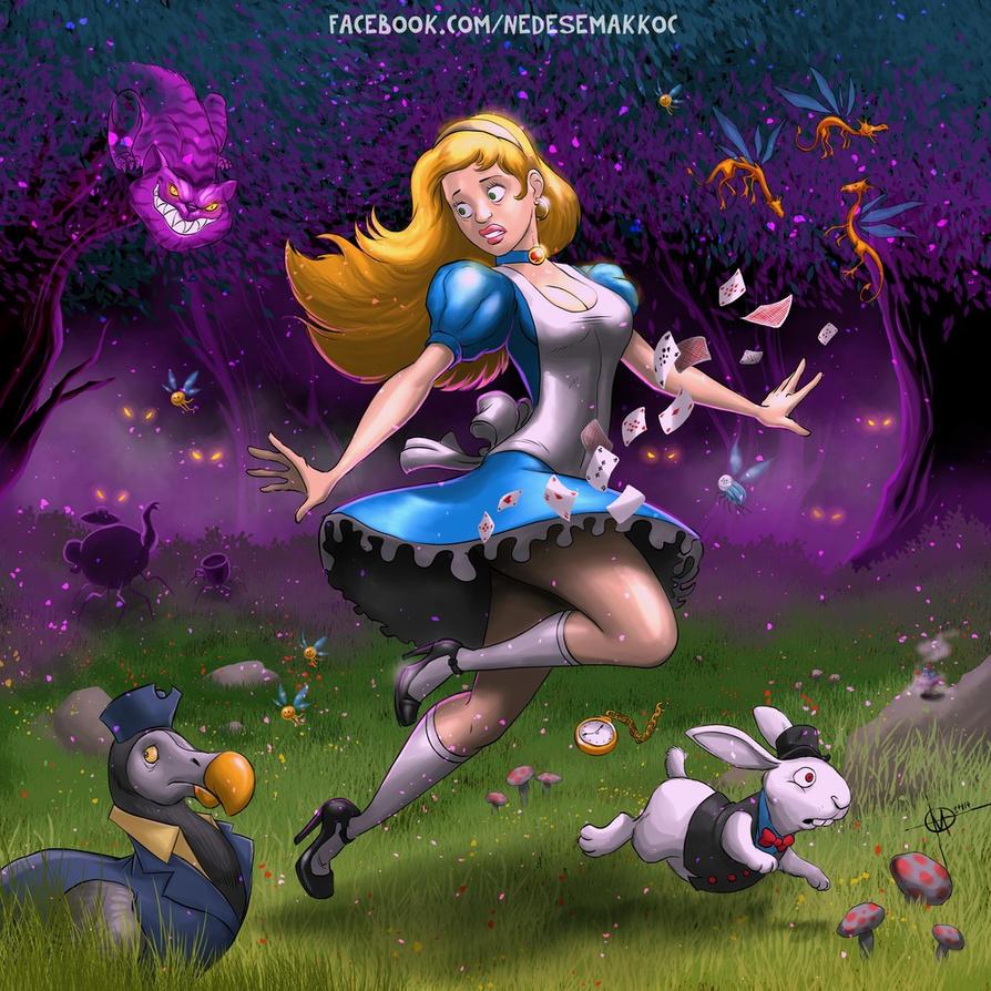 Alice in wonderland by nedesem