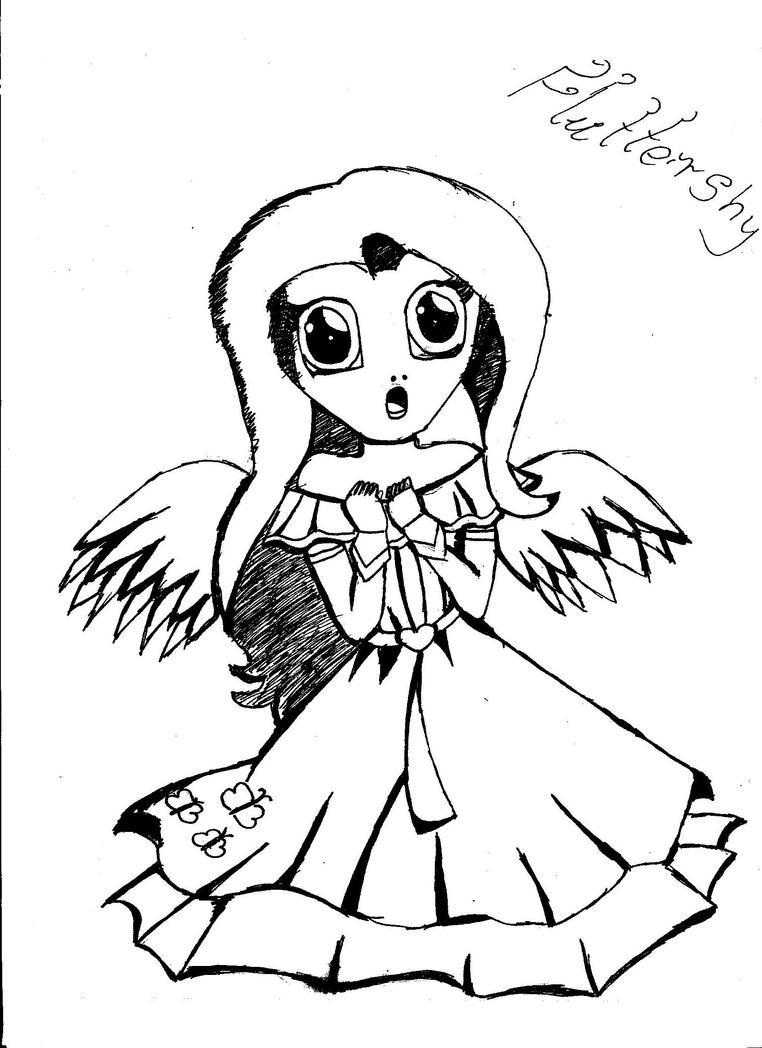 Fluttershy by Lunajula