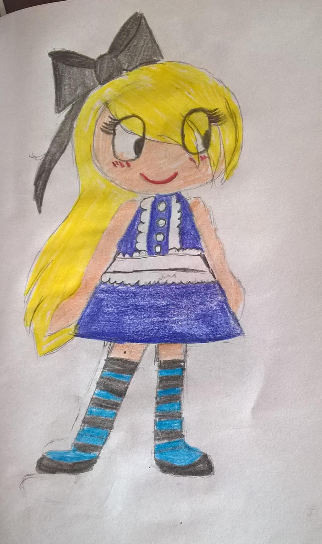 Alice in wonderland chibi version by Lunajula