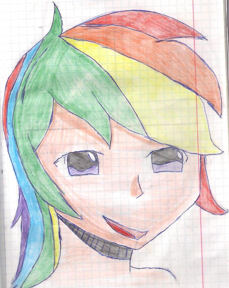 Rainbow Dash manga by Lunajula