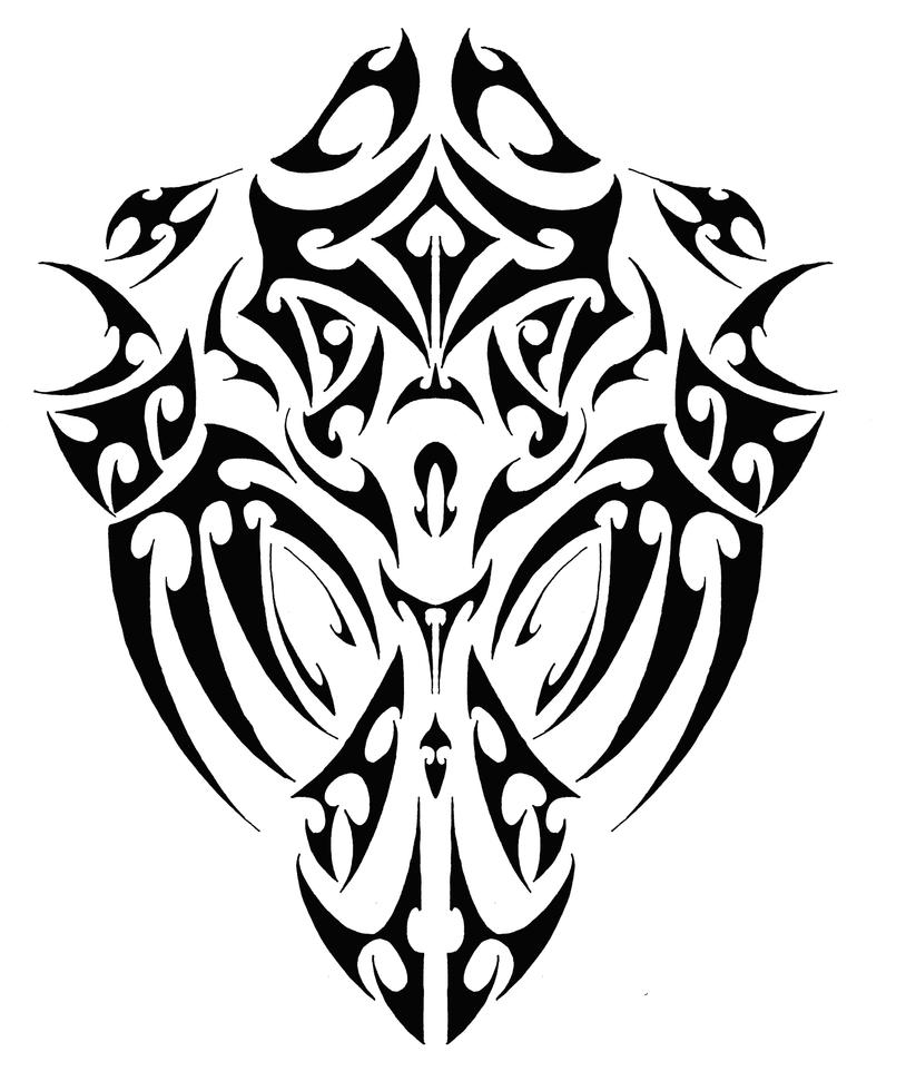 Tribal tattoo for a muscular back by alpinmack on deviantart for Tribal tattoos on back for guys