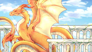 Solarpunk Dragon Anthology banner art by re-11