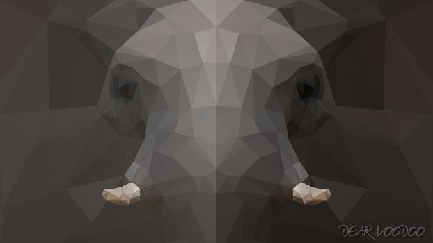 Elephant - LowPoly - Style [HD-720p]