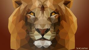 Lion - LowPoly - [HD-720p]