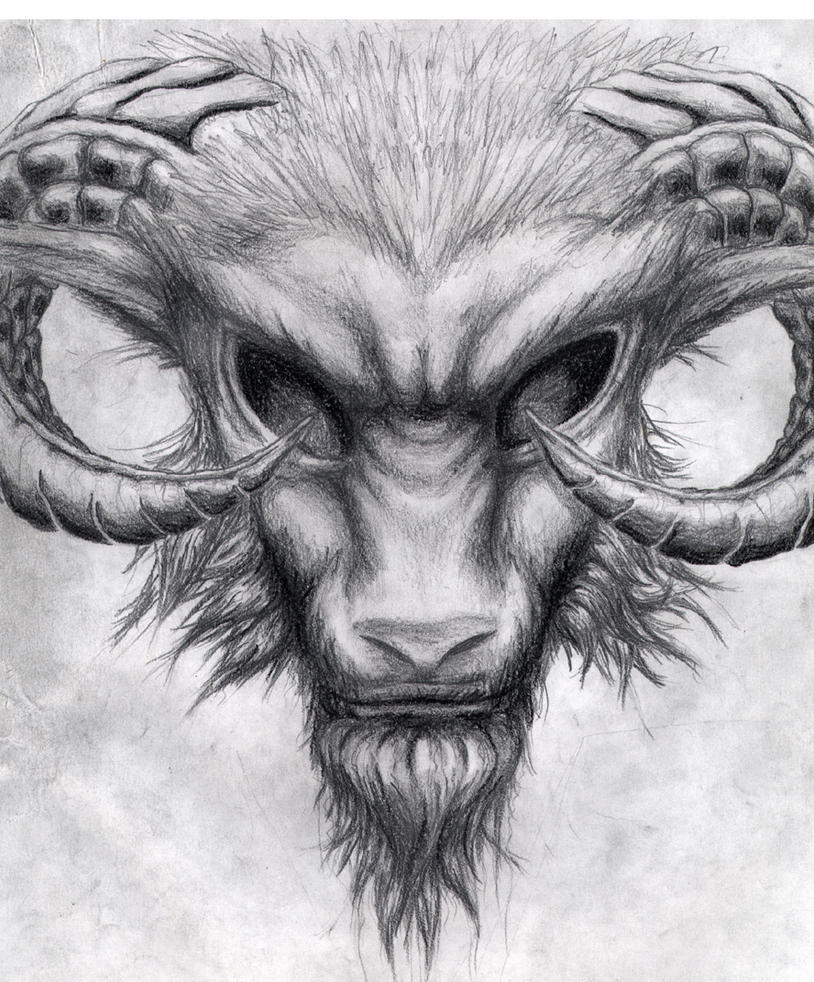 Evil Goat Head Drawing | www.imgkid.com - The Image Kid ...