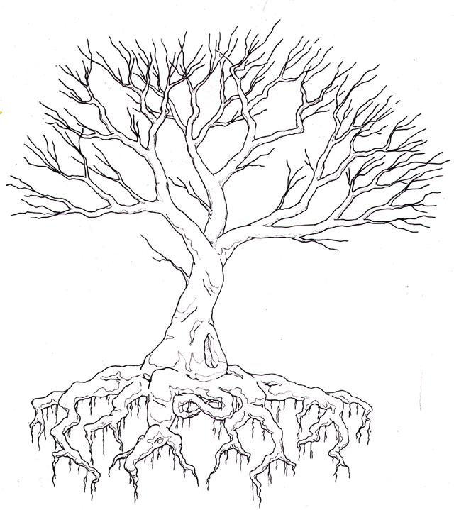 Line Drawing Tree Tattoo : Tree by meskalero on deviantart
