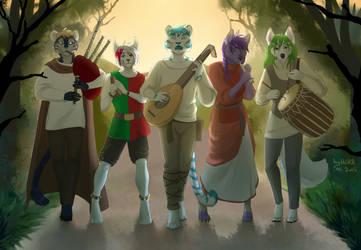 Strolling musicians by HaSKA-LoWo