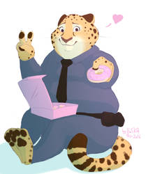Clawhauser by HaSKA-LoWo