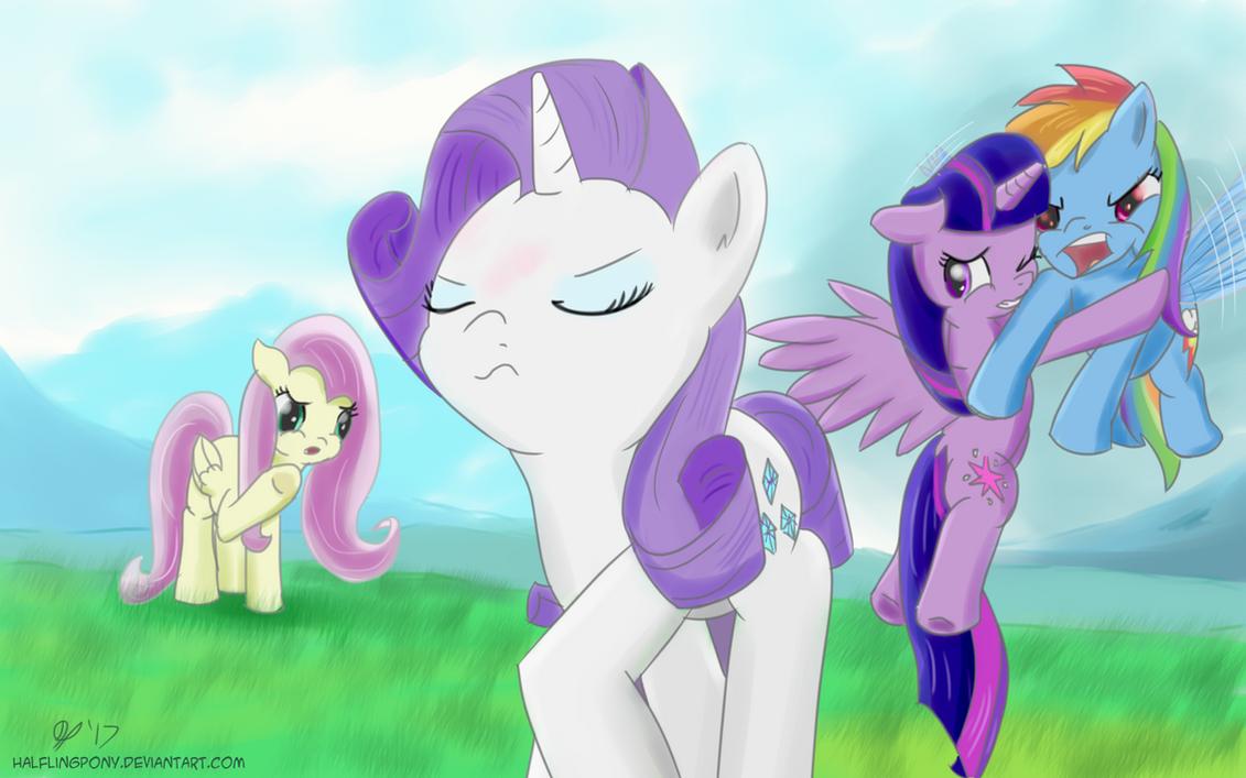 Stupid Prissy Unicorns and Boorish Unkempt Pegasi by HalflingPony