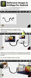 Reference Images in Artrage For Android by ArtRageTeam