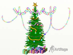 Artrage Sticker Spray Christmas Tree