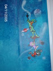Space Scene Looney Tunes