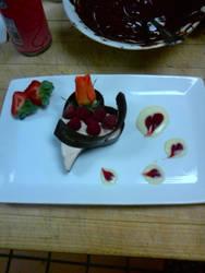 White Choco-Rasp. Mousse Heart