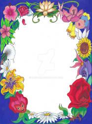 Disney Floral Frame