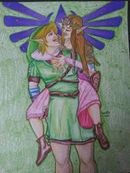 Link and Zelda Couple Portrait
