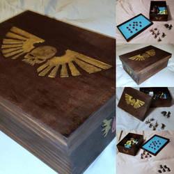 Custom Handmade Dice rolling Tray for Mini Games