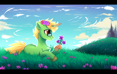 the green green grass by MirtaSH