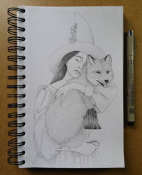 Foxglove witch by ivyjv