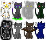 Cute Halloween Cat Adopts - 1 left!