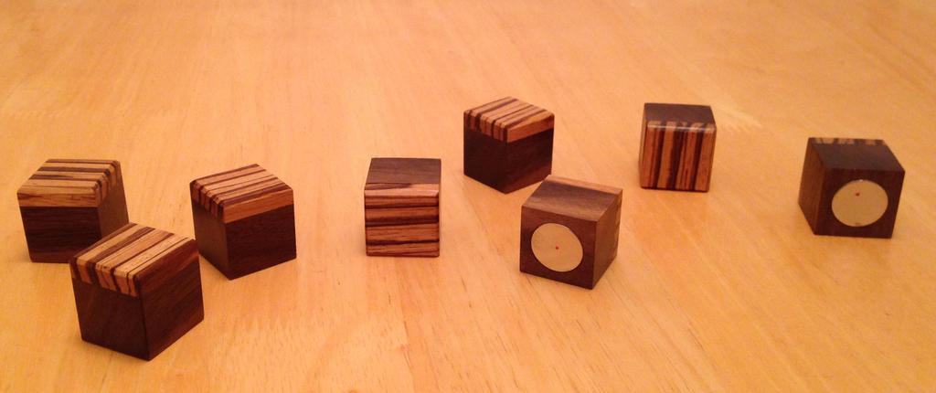 Zebra wood fridge magnets by Woodnutiam